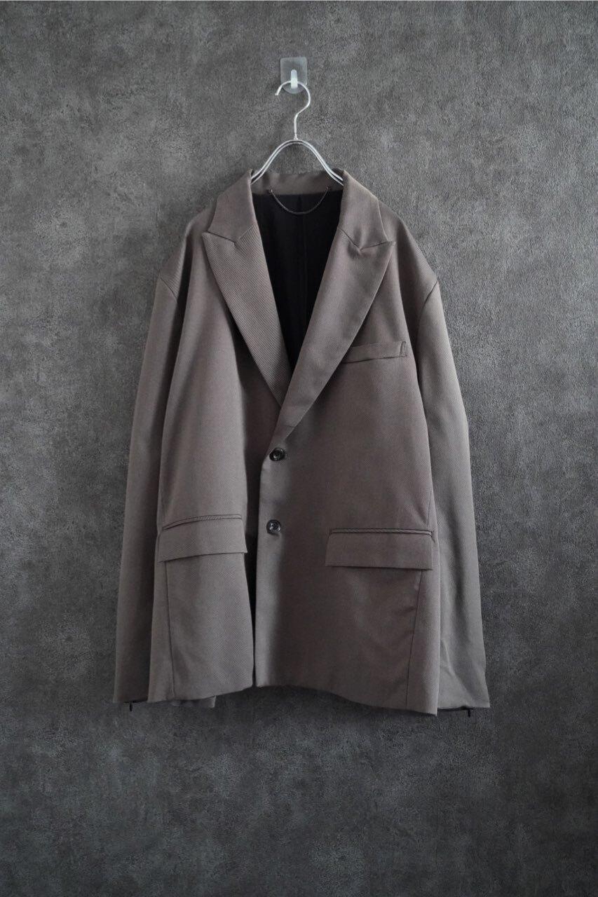 【2021緊急事態延長SALE】 JieDa tailord jacket charcoal gry