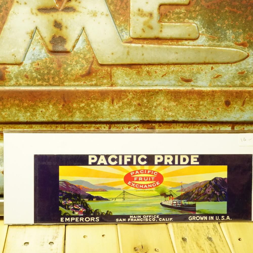 ヴィンテージ カリフォルニアフルーツ 木箱ラベル No.018