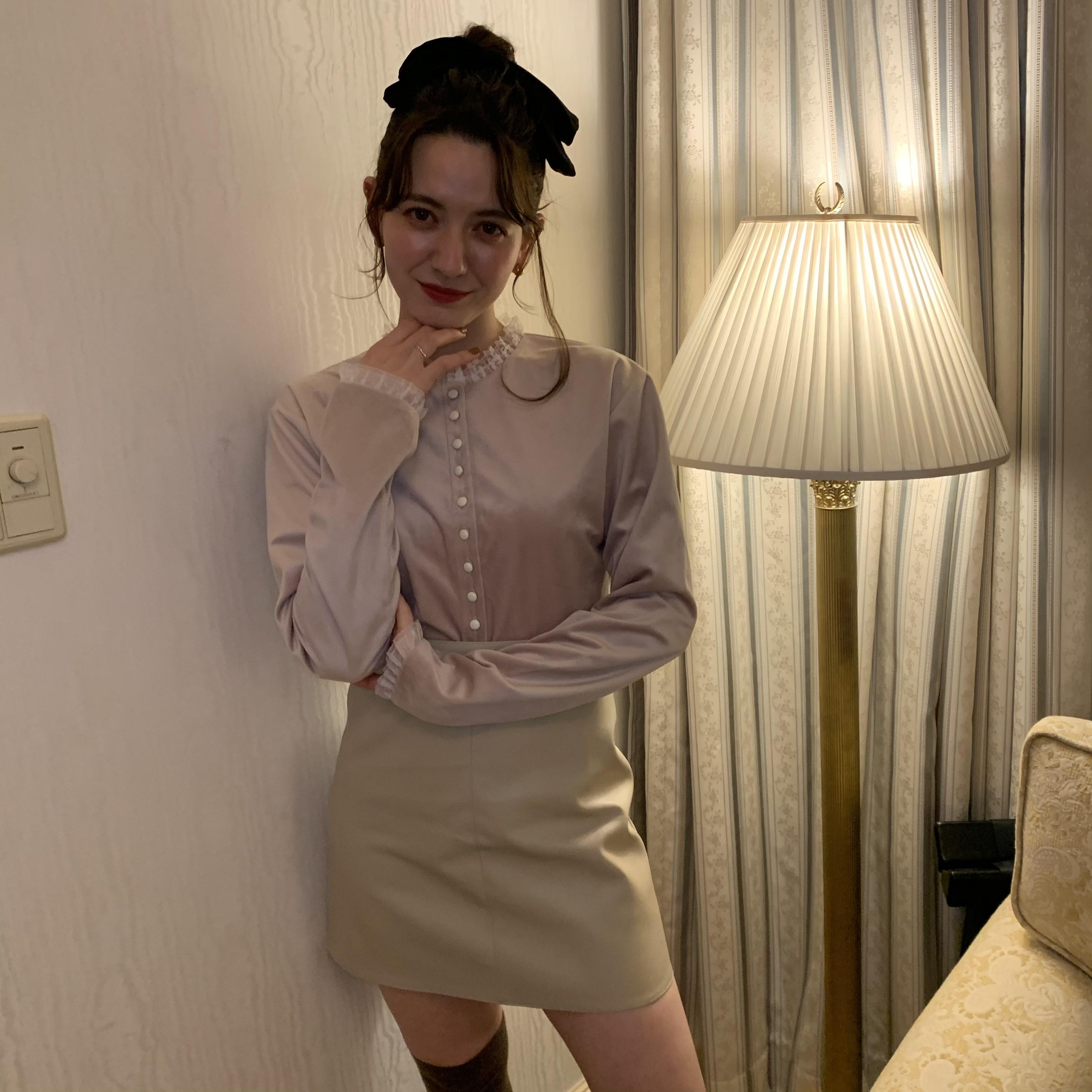 【LAST3】leather skirt