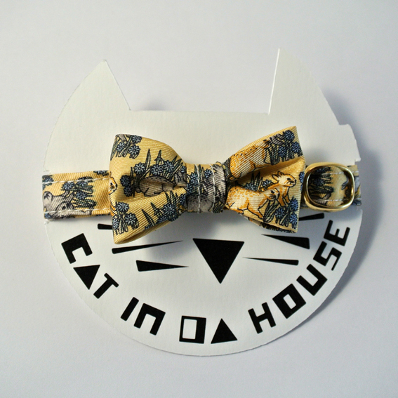 cat's collar vintage printed fabric_0321_i