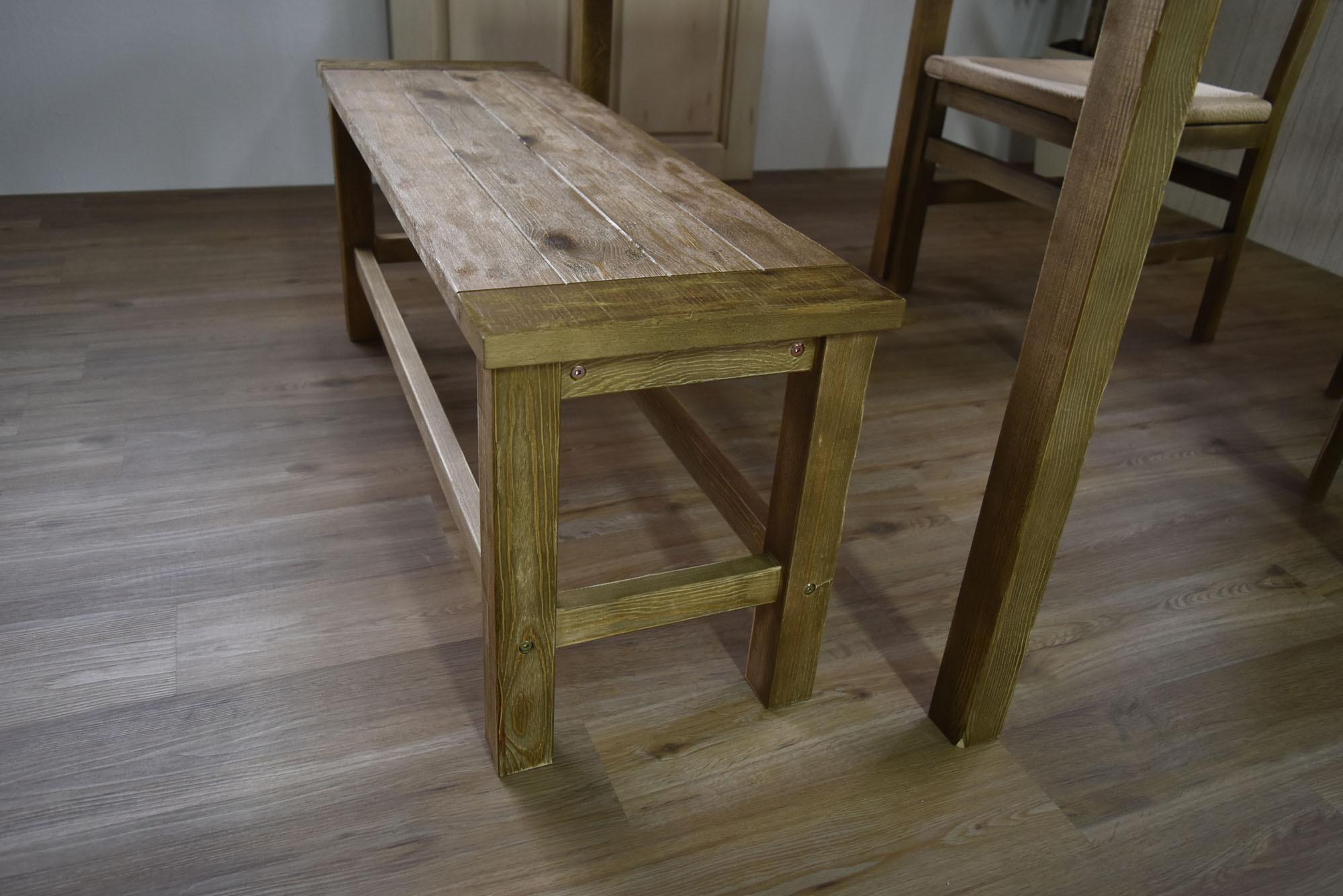 Old Pine Dining Bench Chair / アンティークカントリースタイル オールドパイン ダイニングベンチチェア