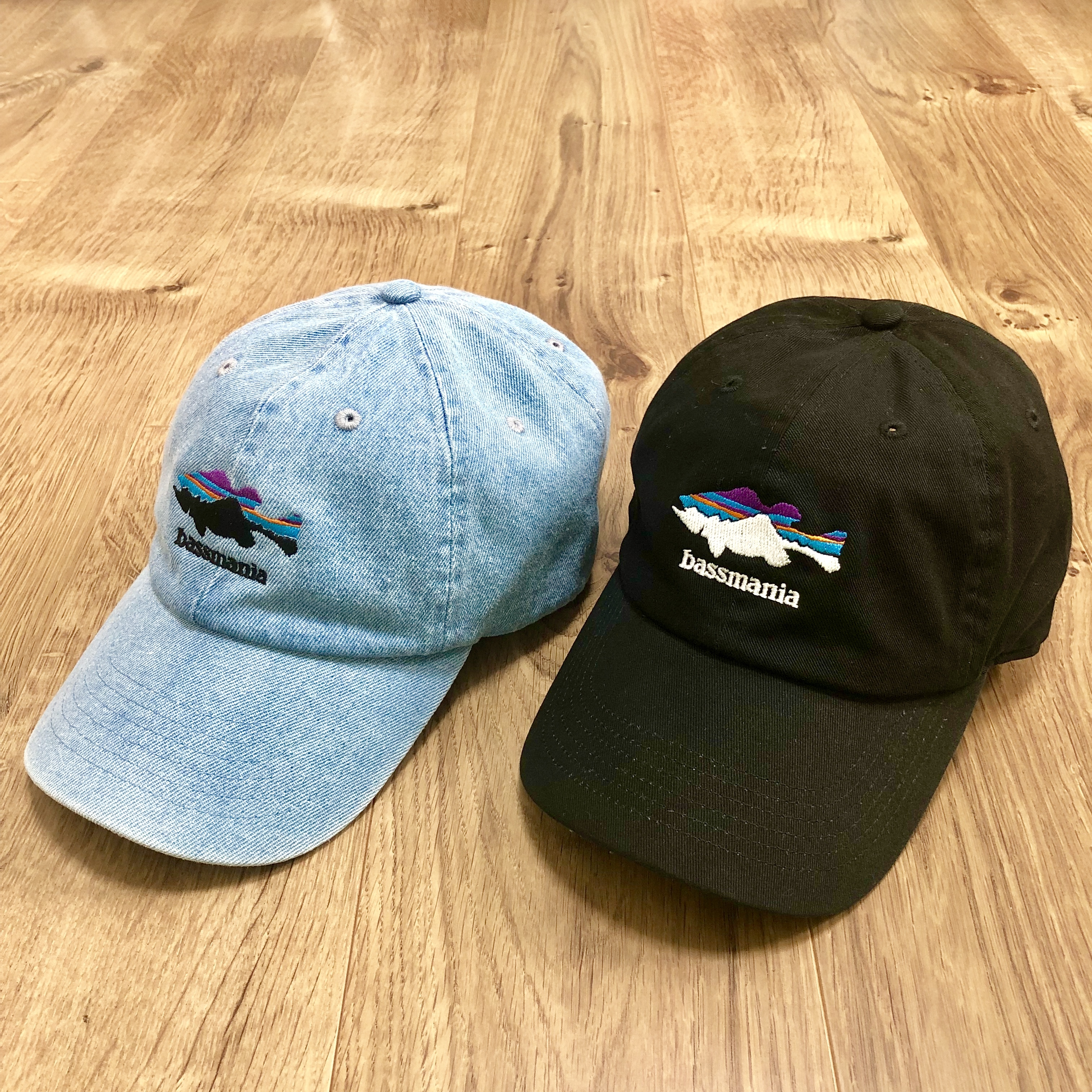 mountain silhouette bass フロント刺繍CAP