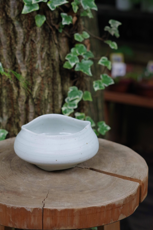 鉄砂練込鉢⑥【町田 幸】