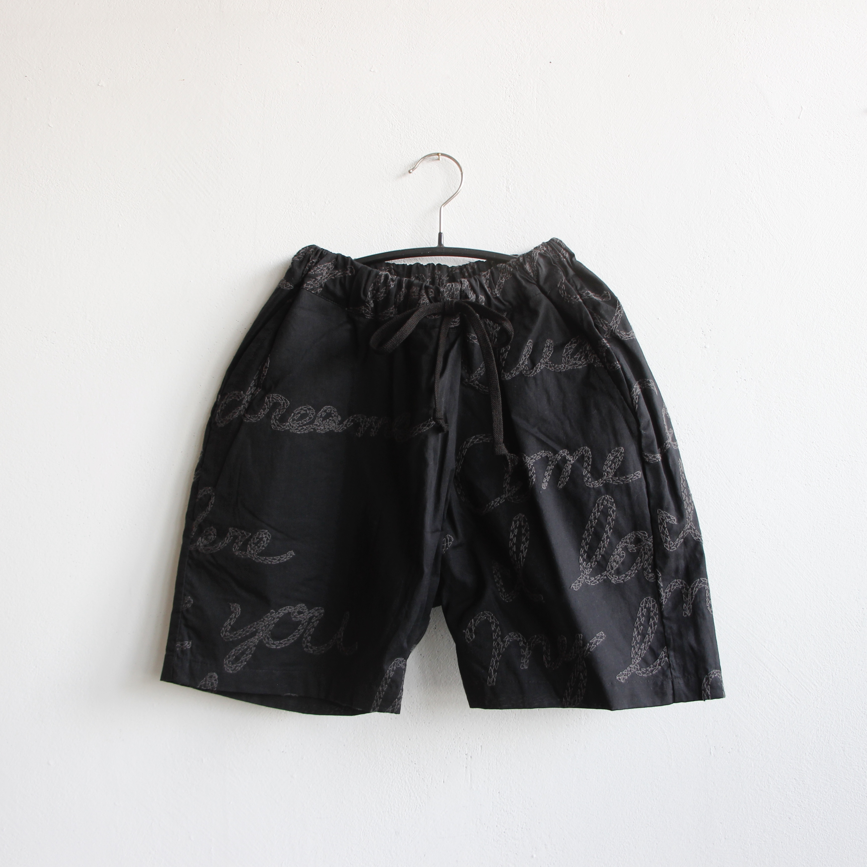 《UNIONINI 2021SS》embroidery short pants / black