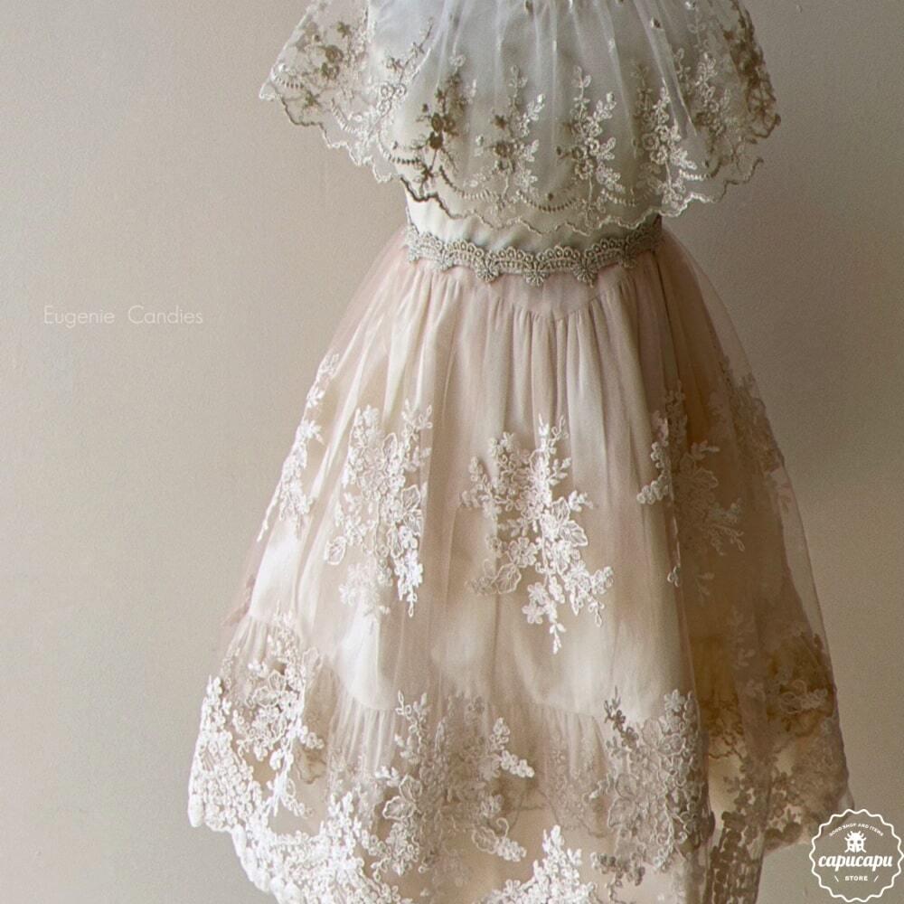 «予約» pink Arabella Lace apron cape  ピンクアラベラエプロン