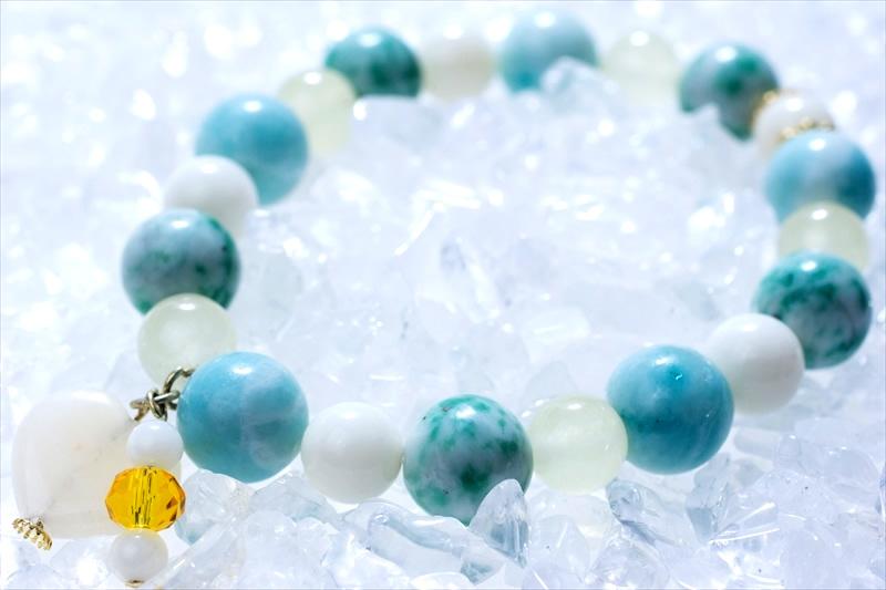 jade (ヒスイ) green stone【パワーストーンブレスレット 】 - 画像2