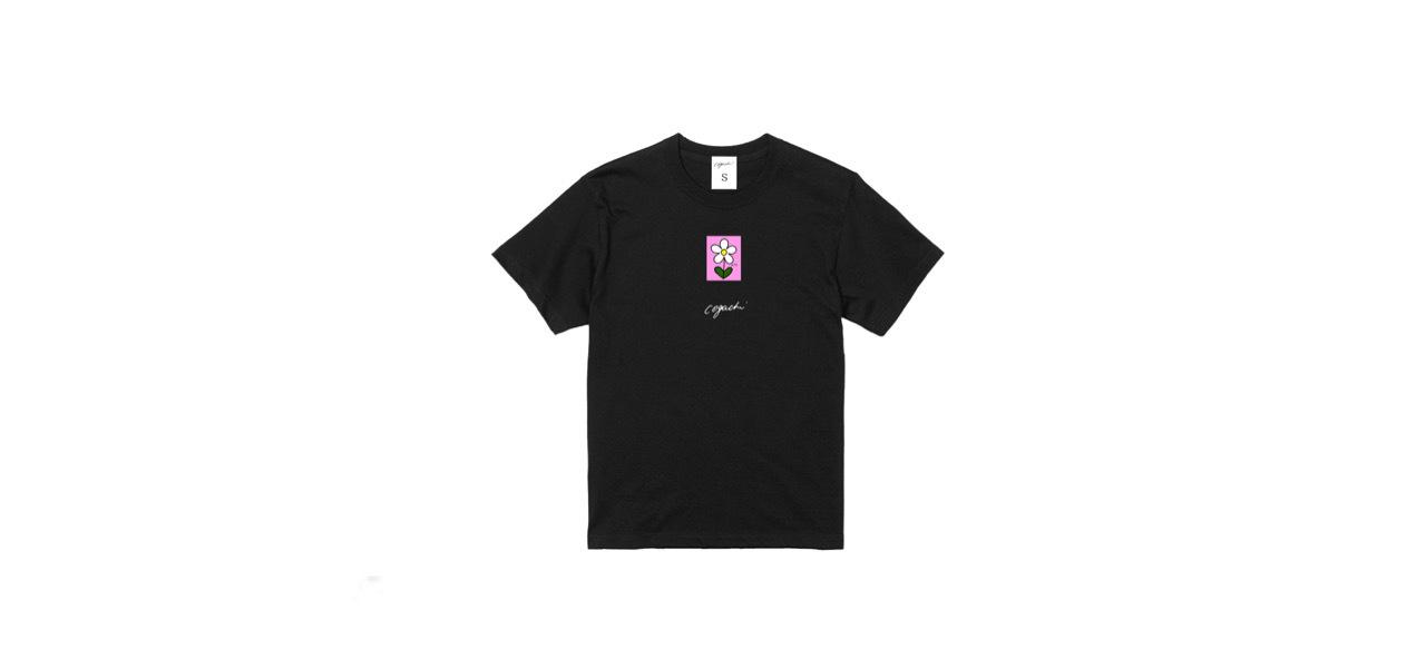 coguchi flower T-shirt (BLK)