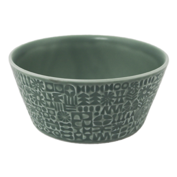 BIRDS' WORDS Patterned Bowl squall gray