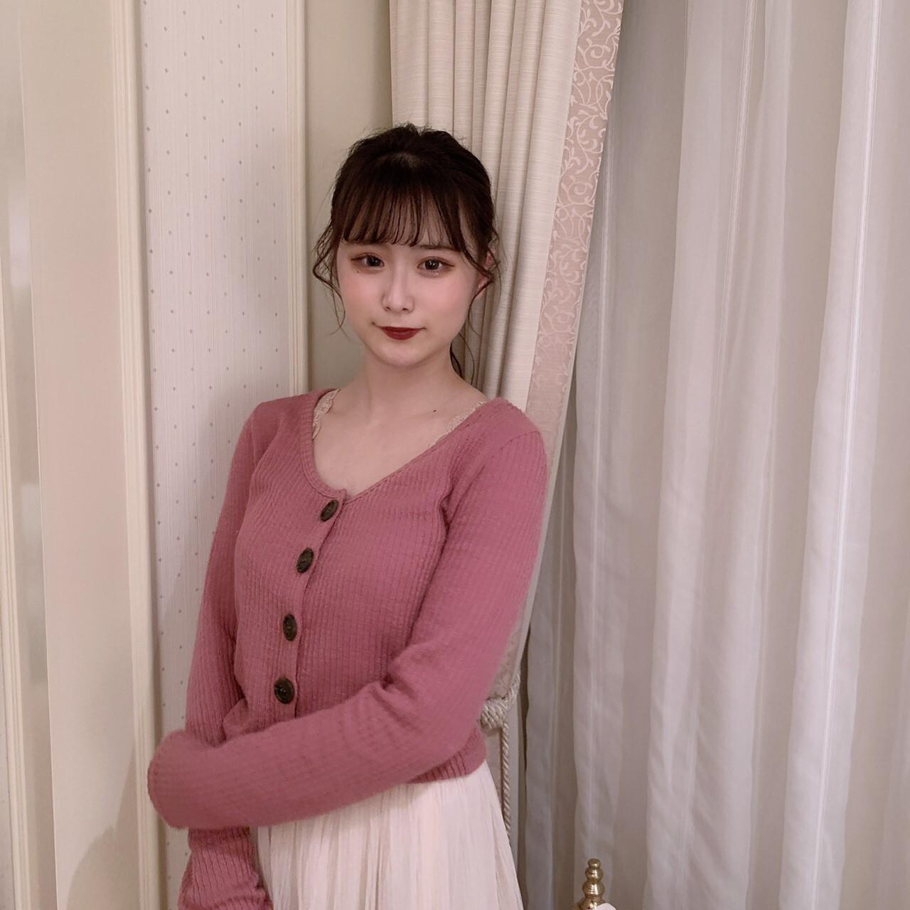 【meltie】otona pink cardigan