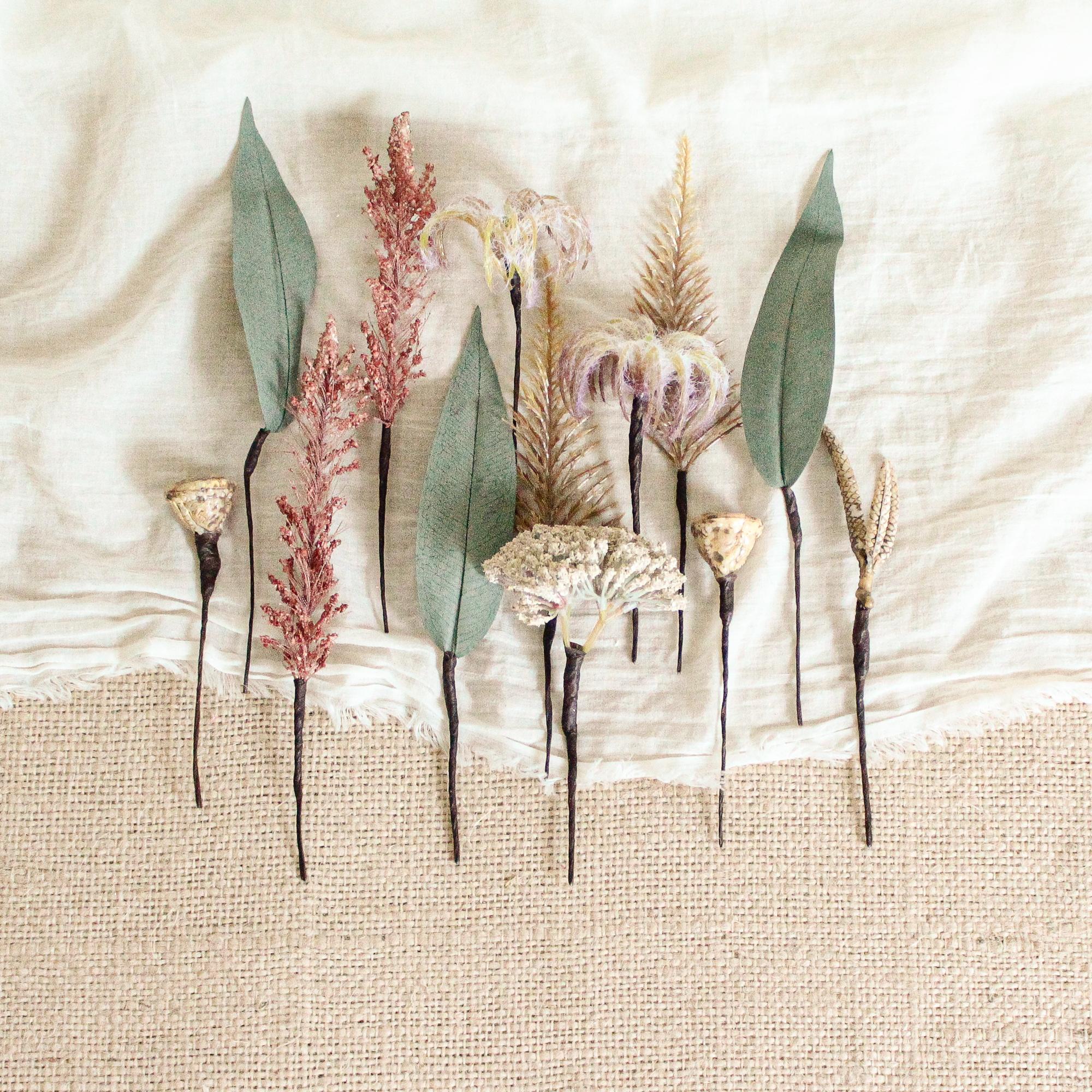 "Hair parts for ""White protea Bouquet"""