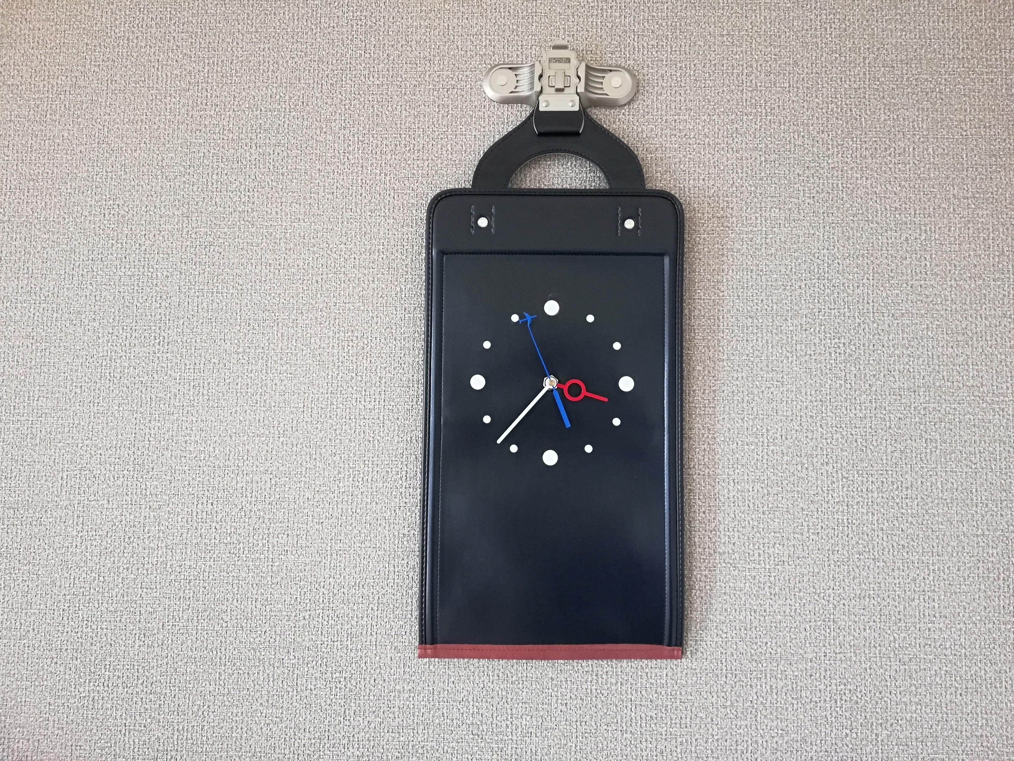 【掛-kakeru- シリーズ】Wall Clock black(ランドセル×時計)