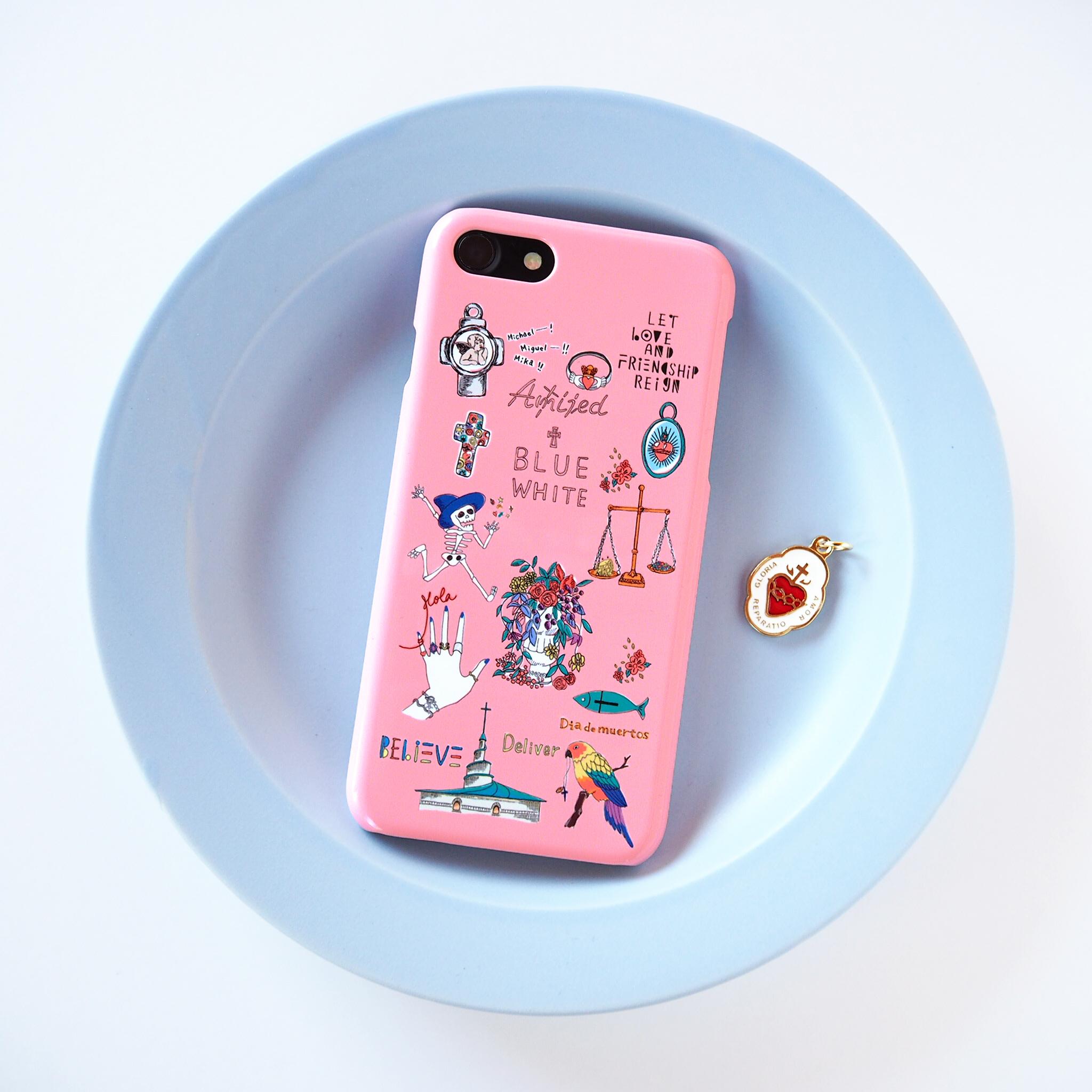 FUDGE別注 Amijed+BLUEWHITE スマホケース