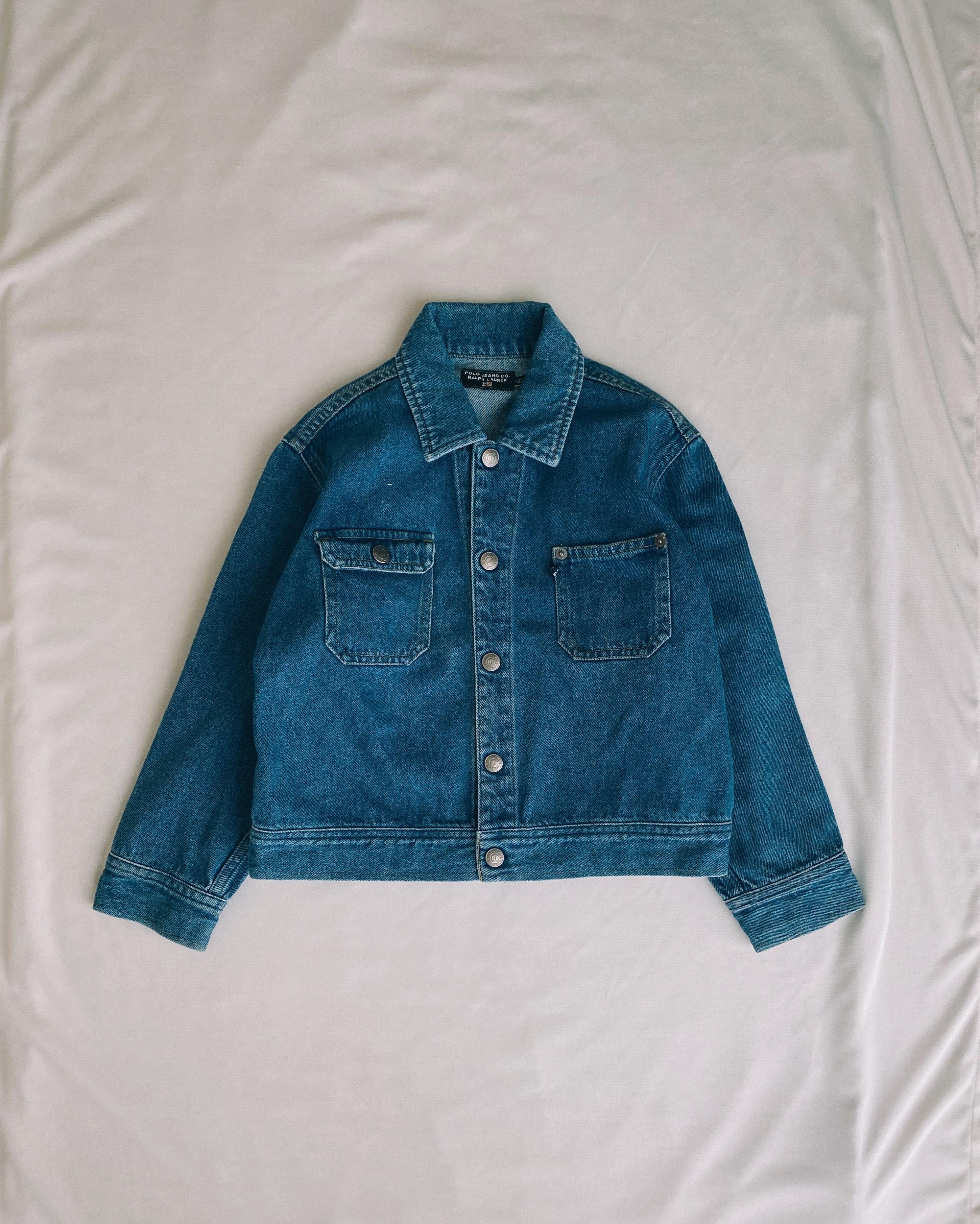 (KD190)120cm POLO JEANS denim jacket