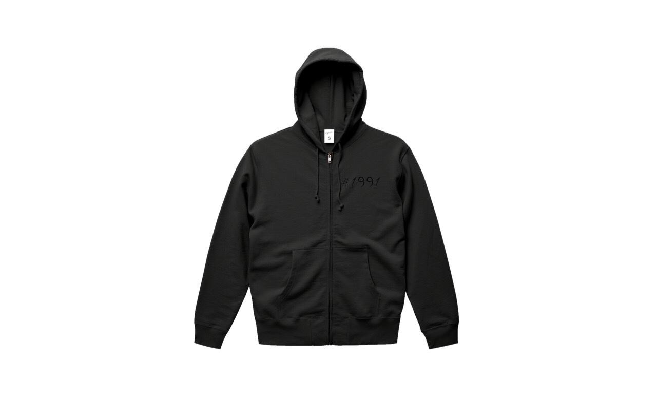 coguchi 1991 logo zip hoodie (bk/bk)