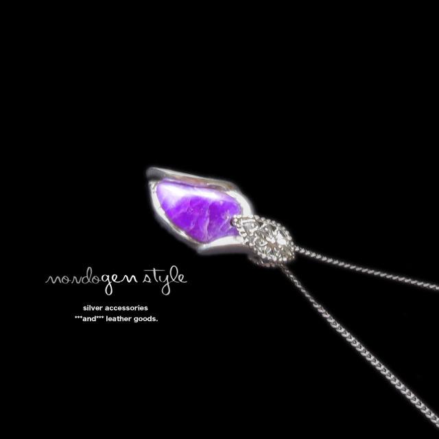 mondo gem style スギライトのネックレス