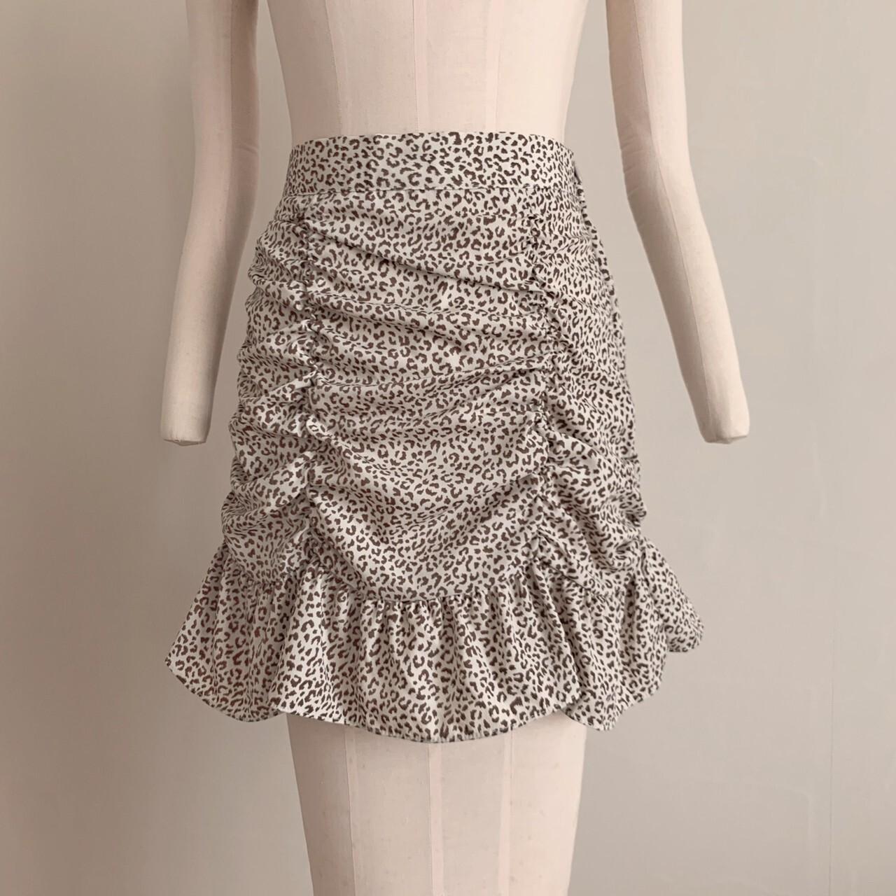 再販【meltie】leopard frill skirt