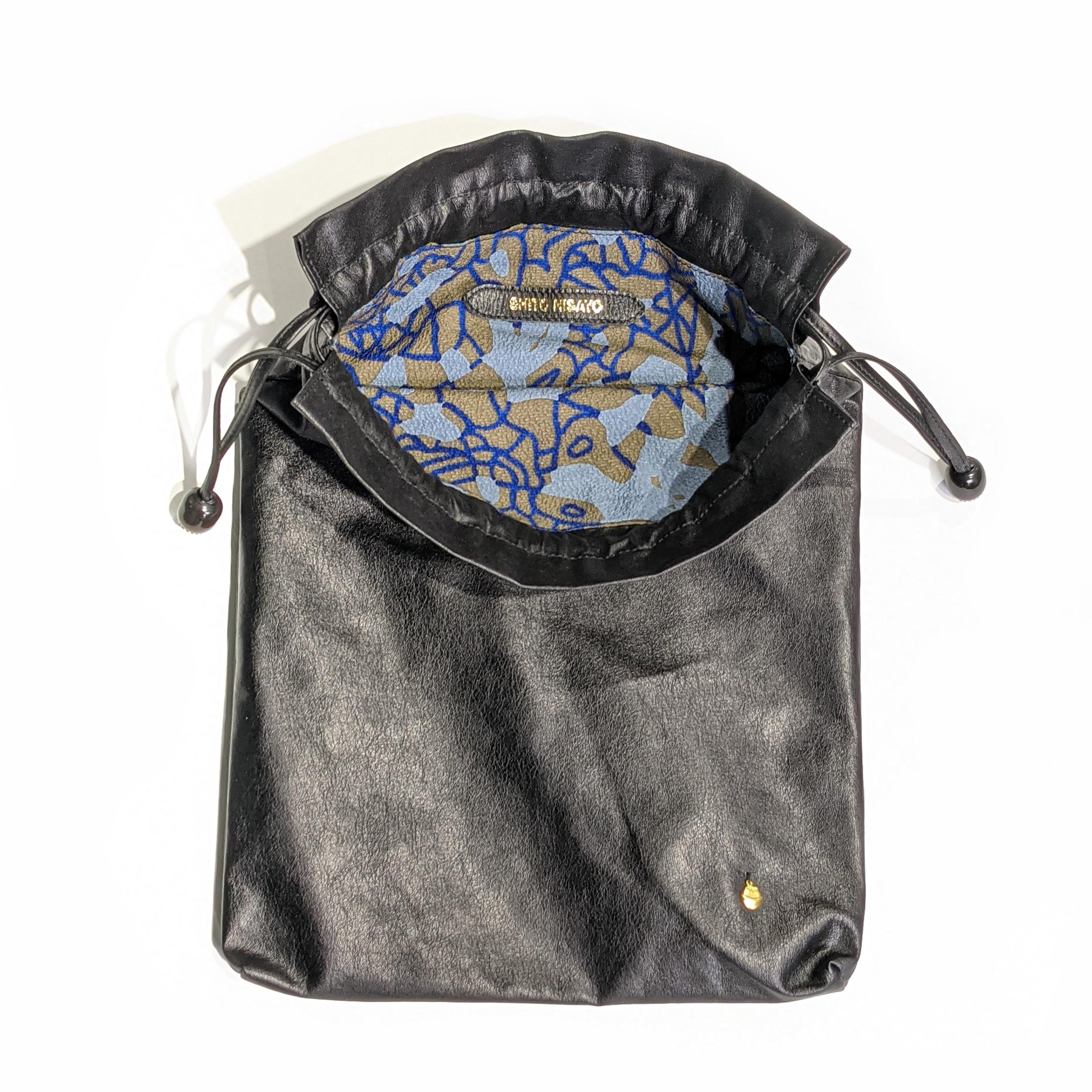 KAWA - 巾着 - 紫藤尚世柄 Blue