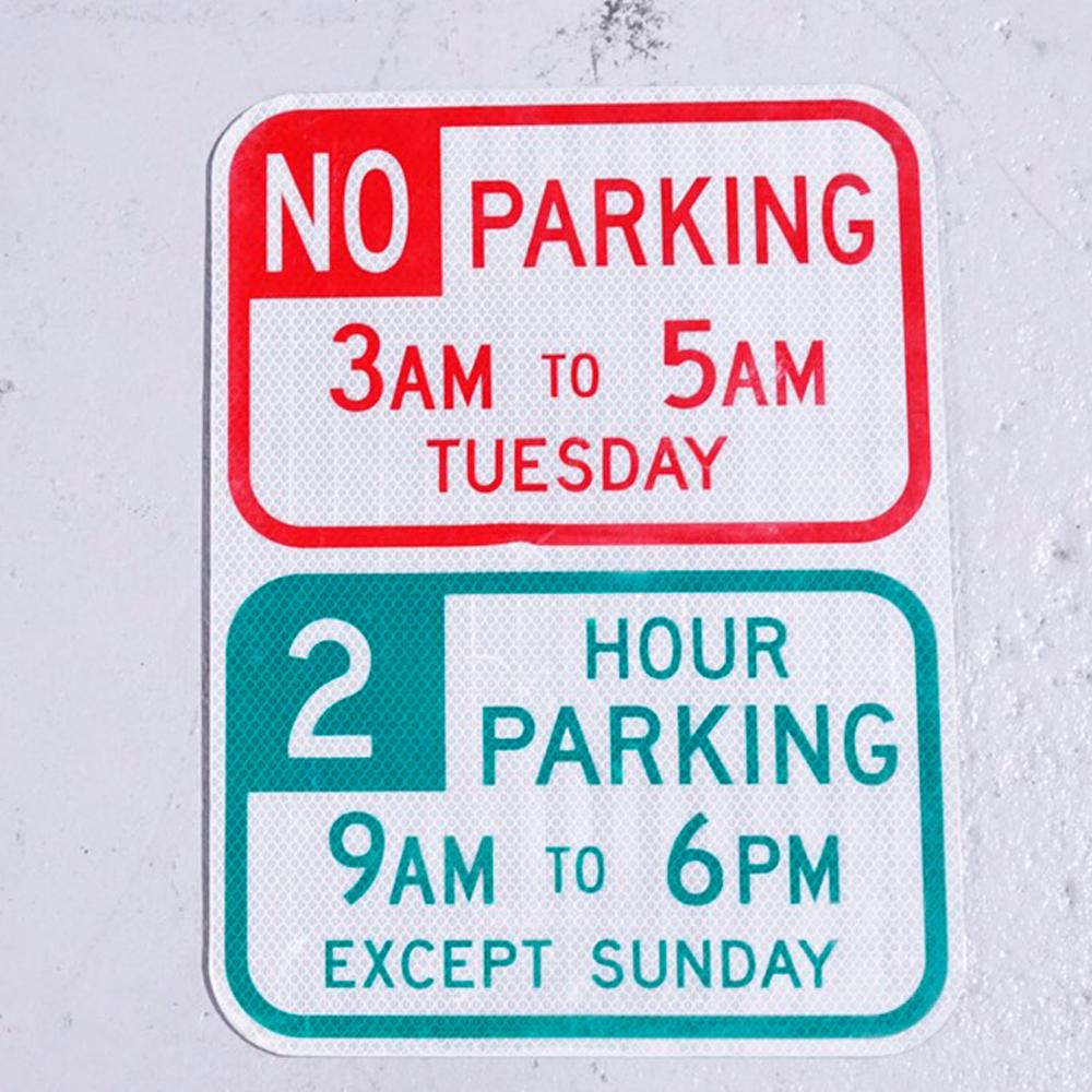 NO PARKING 3-5 アメリカンロードサイン 道路標識 2