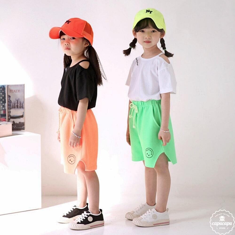 «sold out» bubble kiss neon smile short ネオンスマイルパンツ