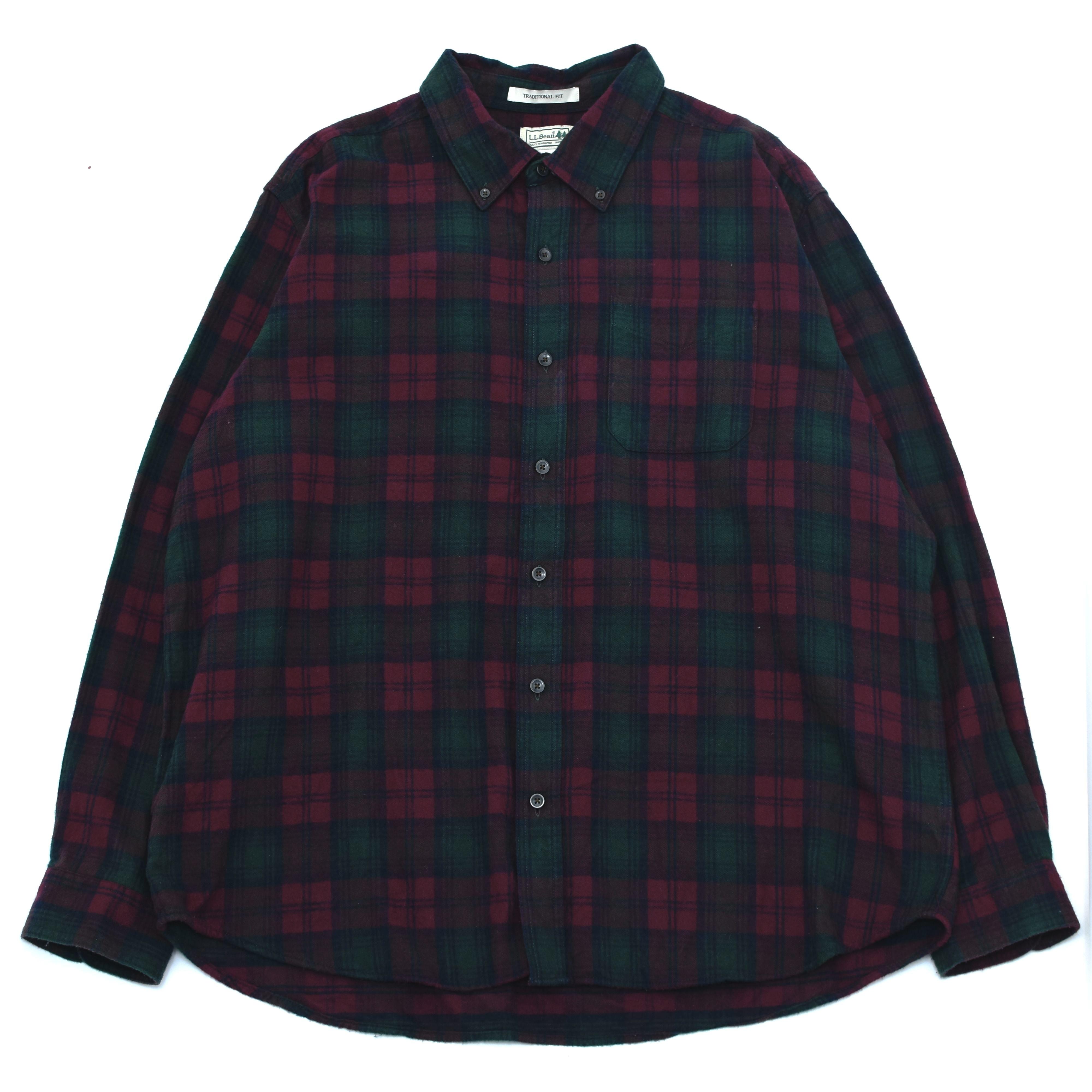 L.L.Bean button down check flannel shirt