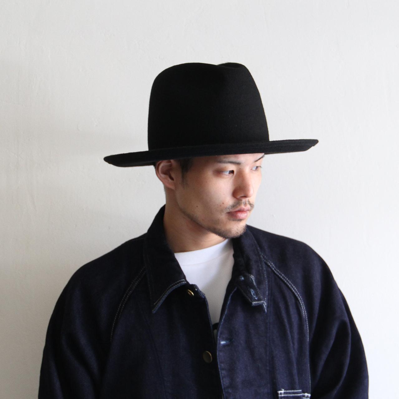 HICOSAKA【 mens 】big silhouette felt hat