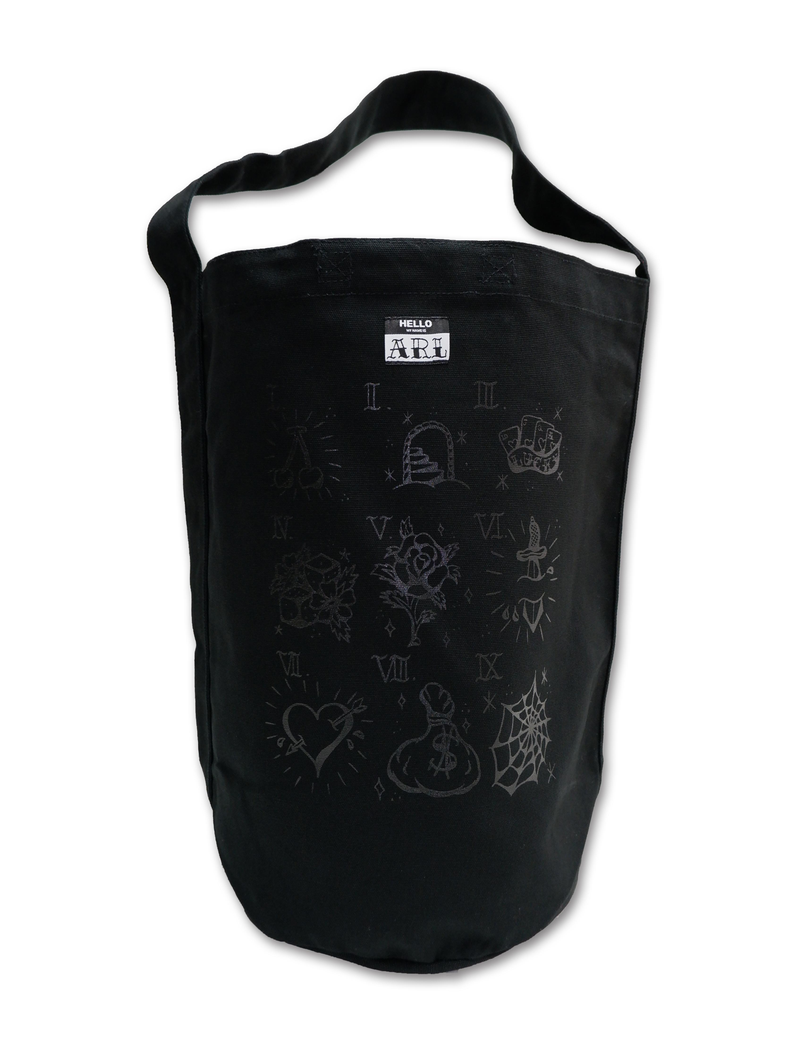 TATTOO FLASH CANVAS BIG  BAG black