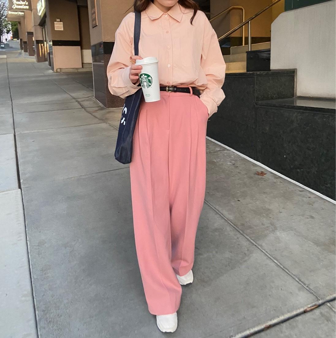 【LAST3】DAYNYC thing slacks (pink)