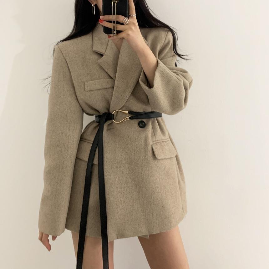 ベルト付きジャケットコート V00875