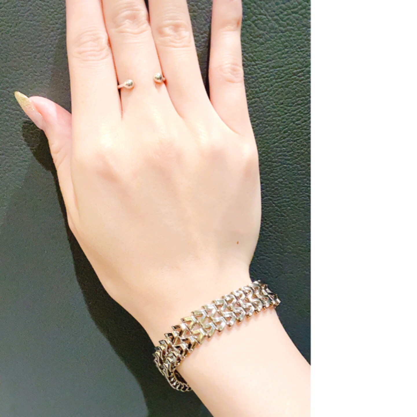 【silver925 】2POINTS U-LINE RING