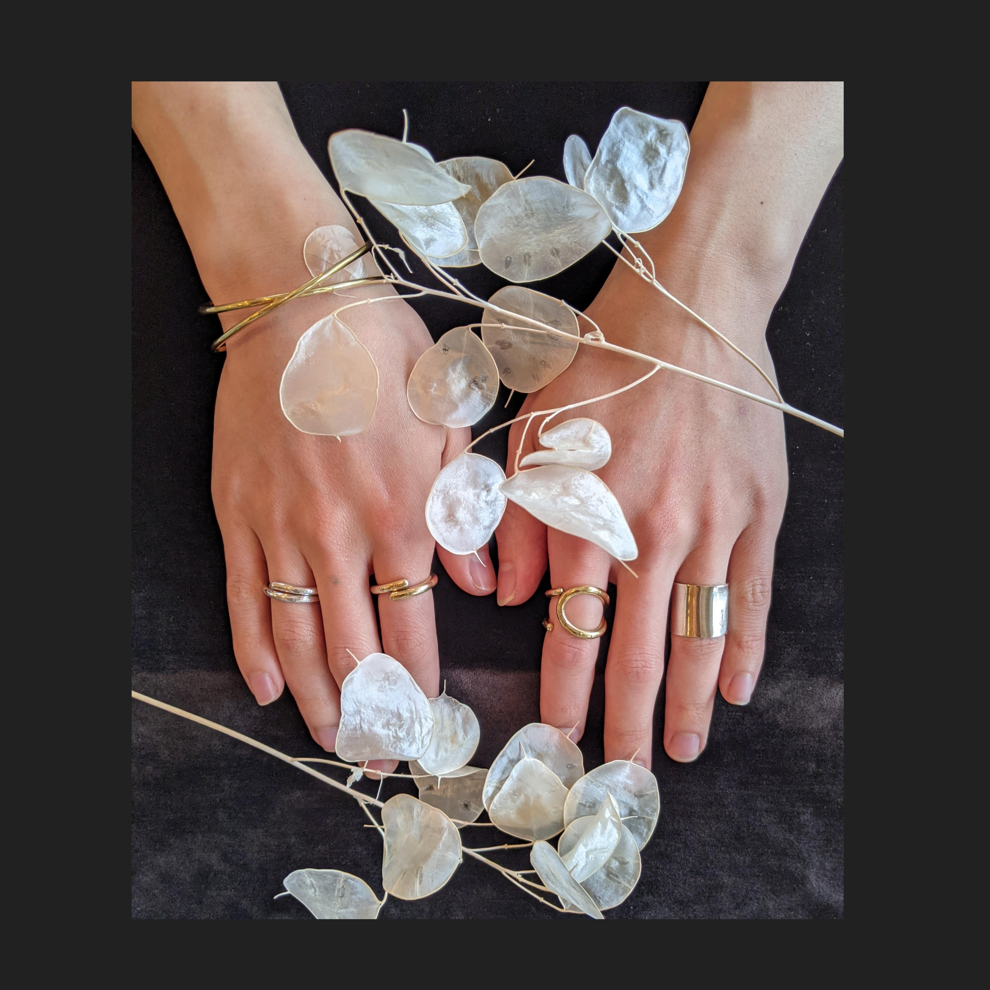 2本set ring【 jomathwich 】brass × silver  / R-19 /  真鍮 × 銀 リング/ 指輪 / 13号サイズ