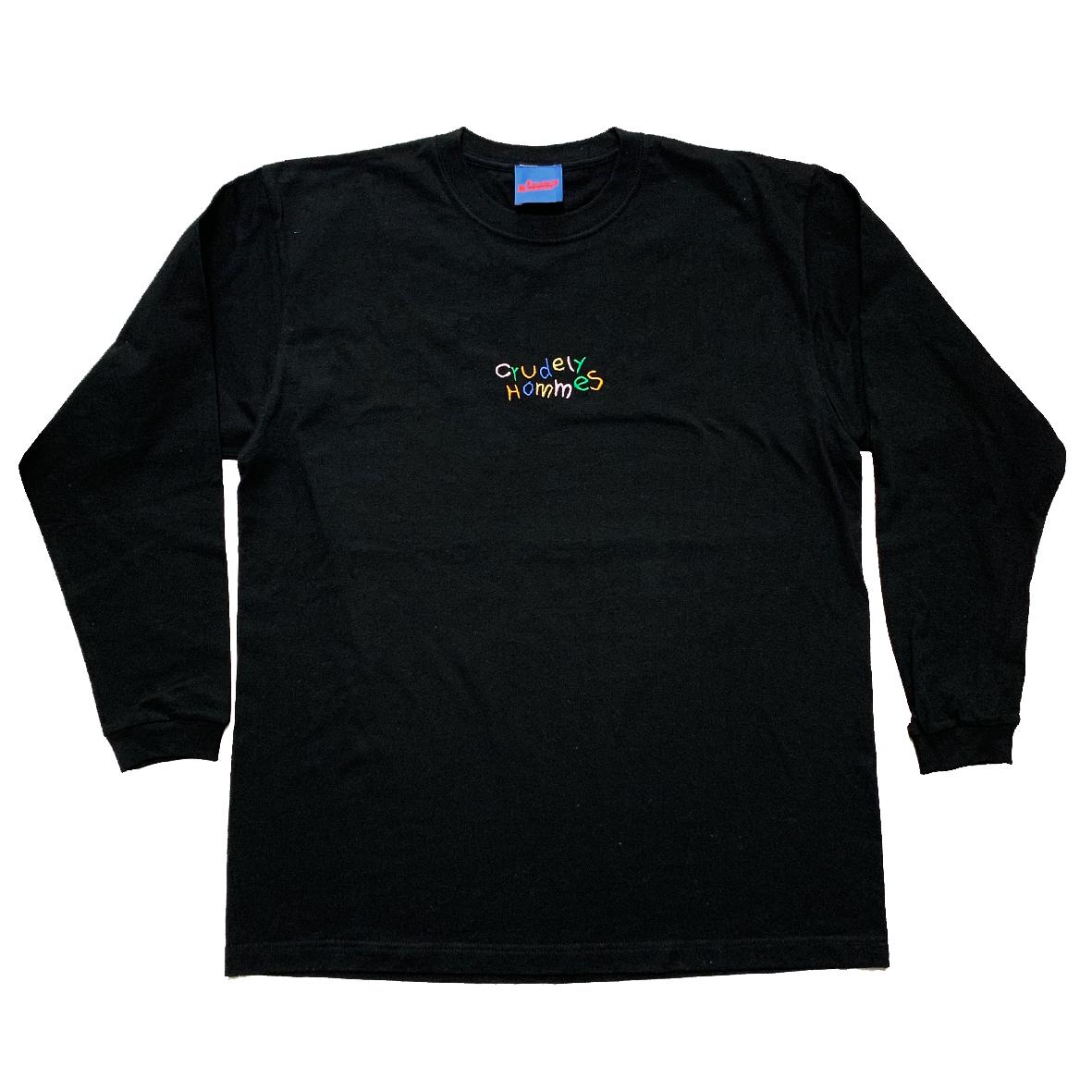 【Crudely Hommes】Rainbow Logo Embroidery Long Sleeve