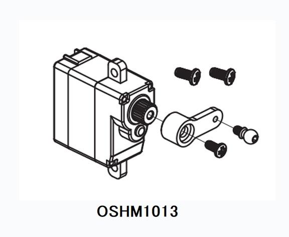 ◆M1メタルギアサーボセット (高強度ポリカーネードケース) OSHM1013 (ネオヘリでM1購入者のみ購入可)