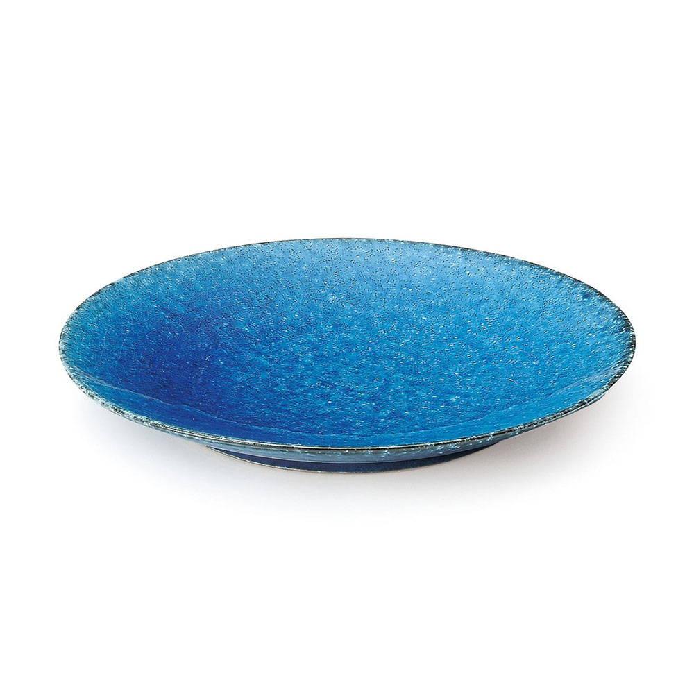 「トルコ釉」プレート 盛り皿 約26cm ブルー 美濃焼 564103