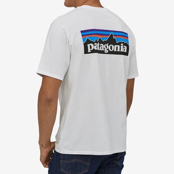 パタゴニア PATAGONIA Tシャツ 半袖 メンズ P-6ロゴ レスポンシビリティー 38504 White【正規取扱店】
