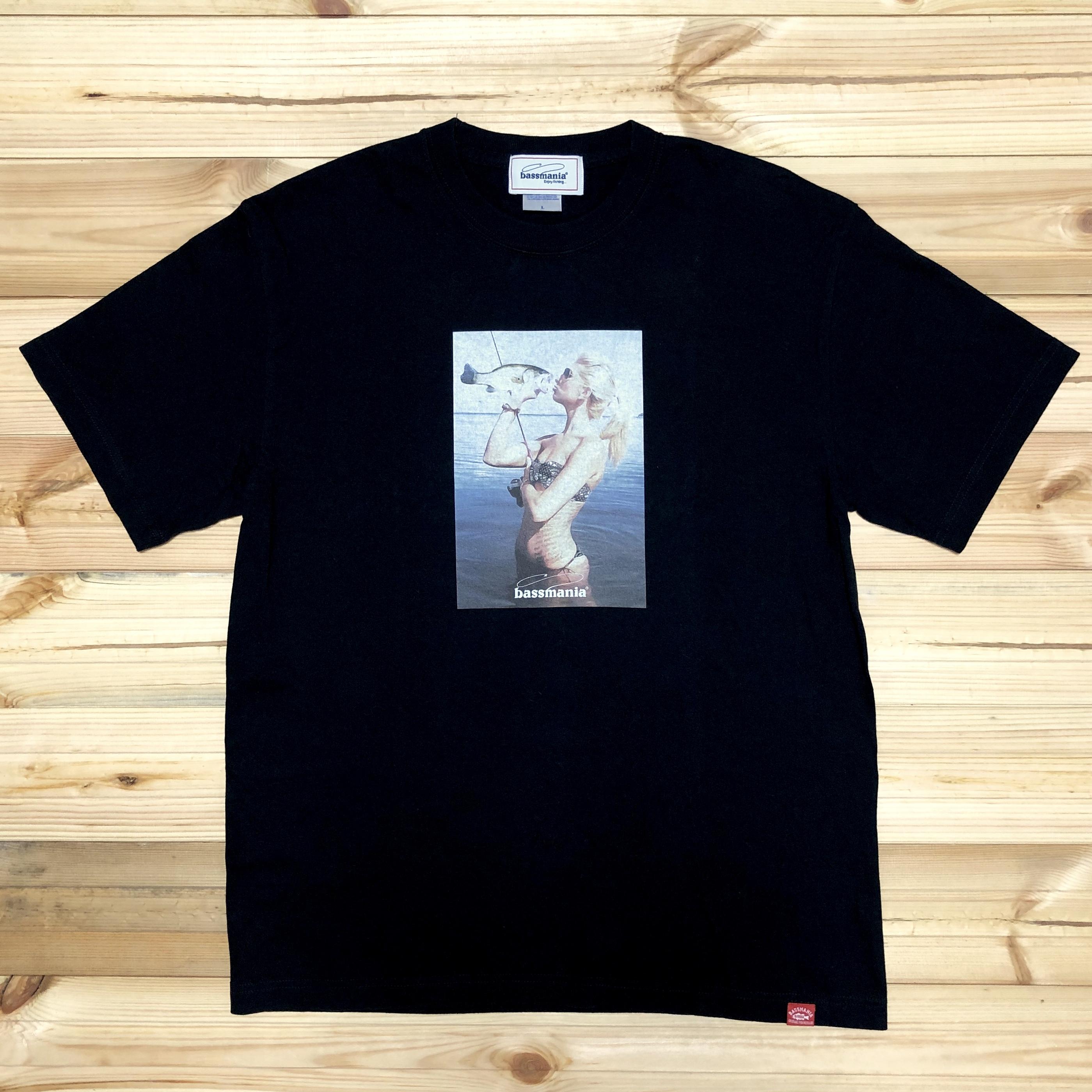 バスガールフォトプリントTシャツ [BLK]