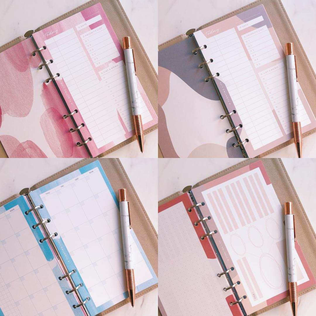 【冬の新作バイブル4種セット】システム手帳リフィル
