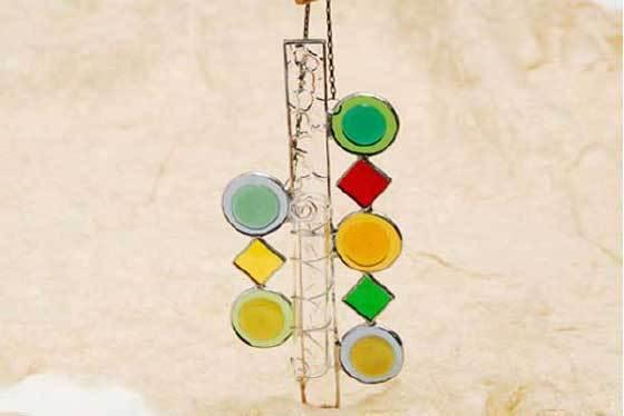 ポップアート(ステングラスの一輪挿し) 02070105