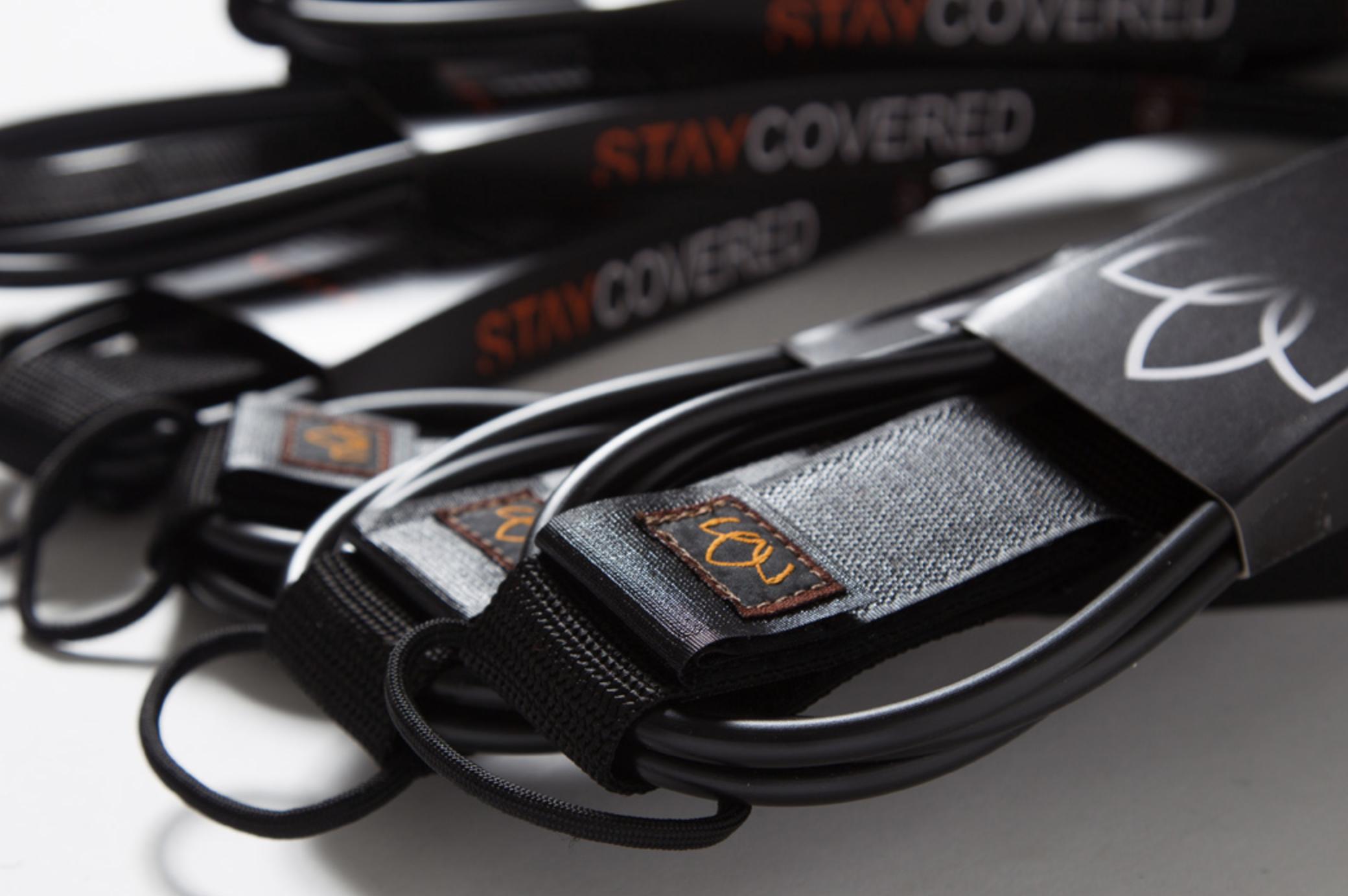 [STAY COVERED] リーシュ 9ft KNEE STANDARD mat black