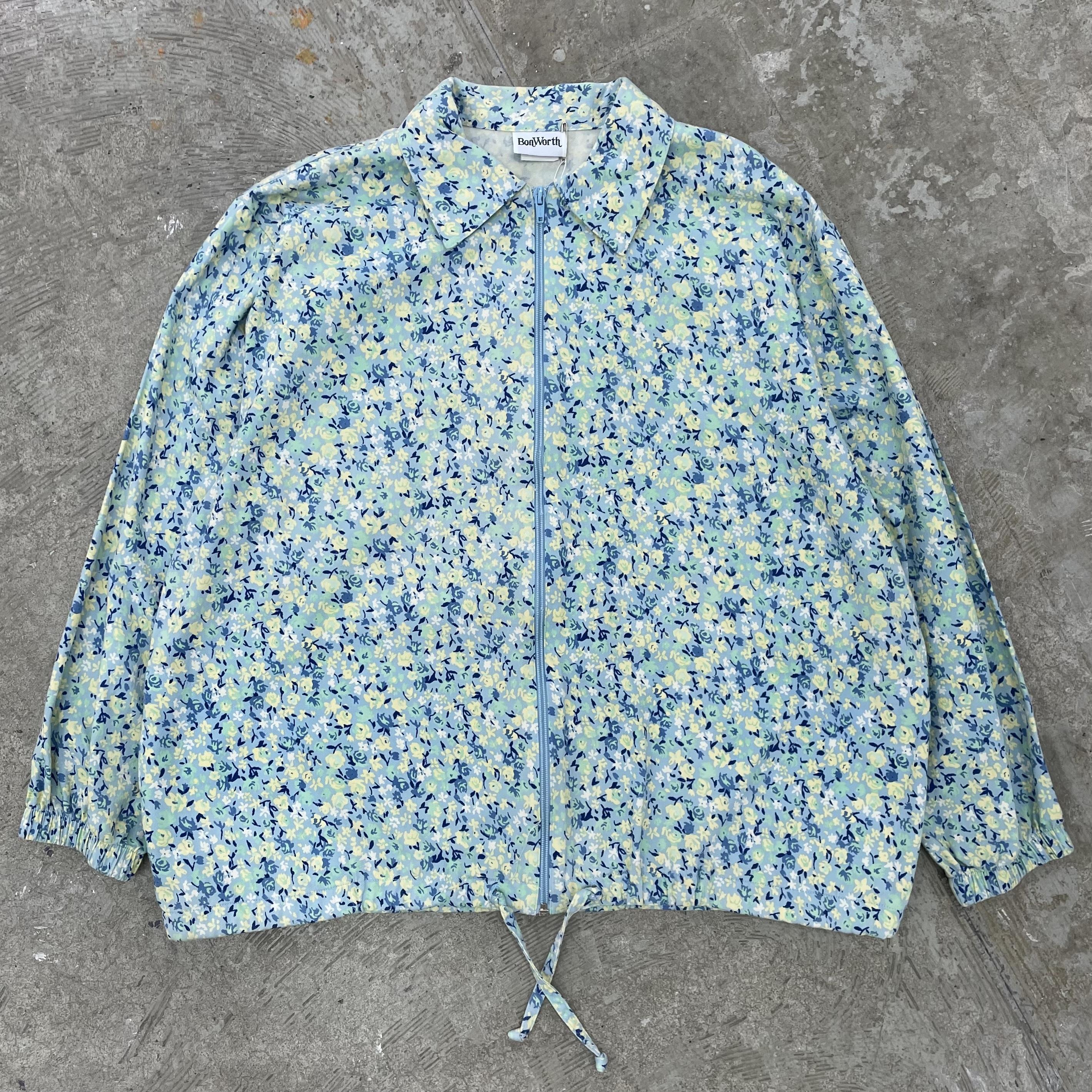 Cotton Floral Jacket / Size M