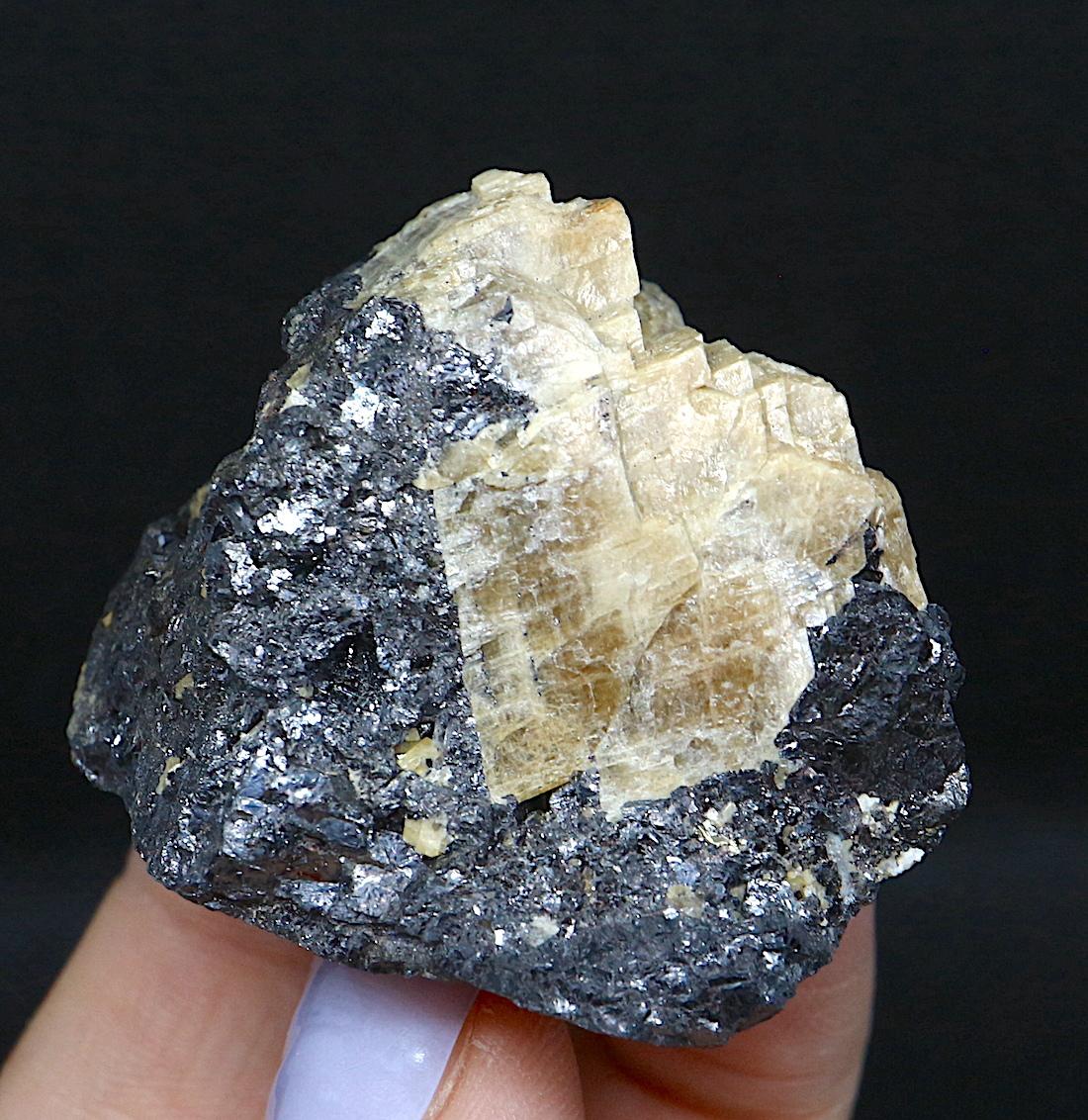 シデライト + 閃亜鉛鉱 カナダ産  59g SPH005  原石 鉱物 天然石 パワーストーン