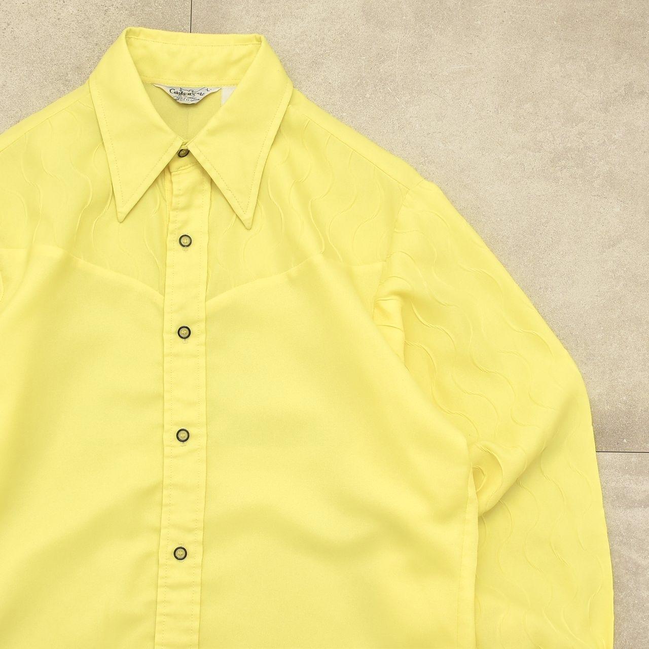 70's Customode wave stripe design shirt