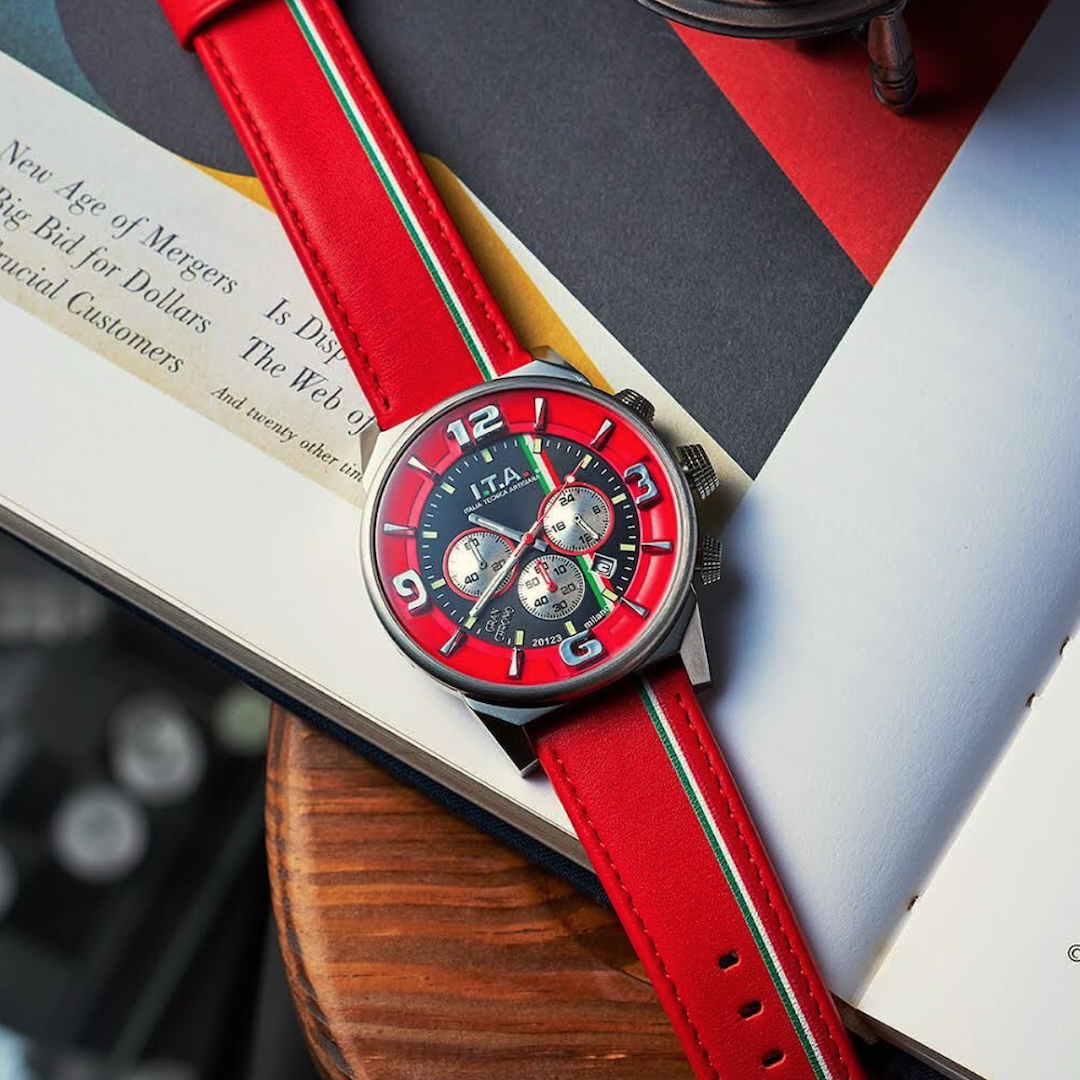 【I.T.A. アイティエー】GRAN CHRONO グランクロノ(ロッソ)/国内正規品 腕時計
