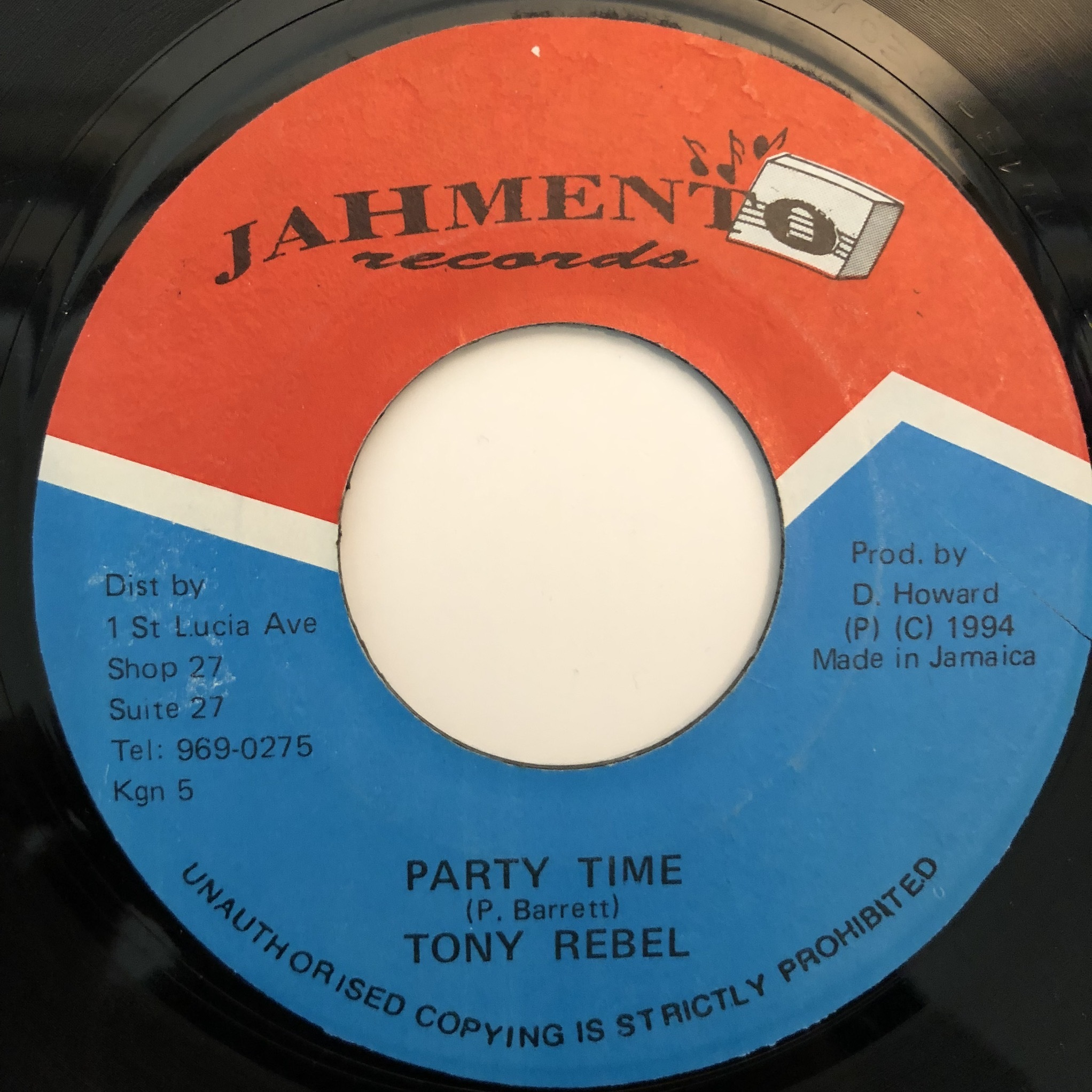 Tony Rebel - Party Time【7-20363】