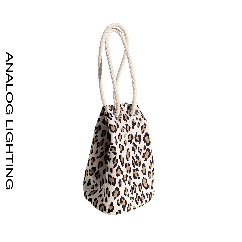 Leopard Bucket Bag