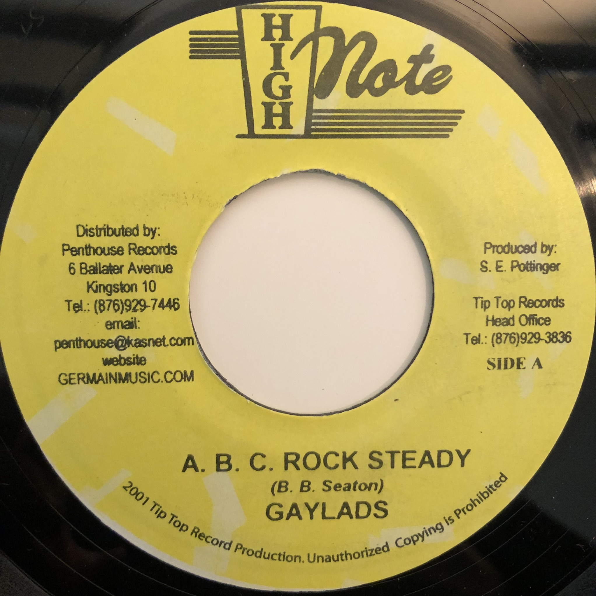Gaylads - A.B.C. Rock Steady【7-20343】