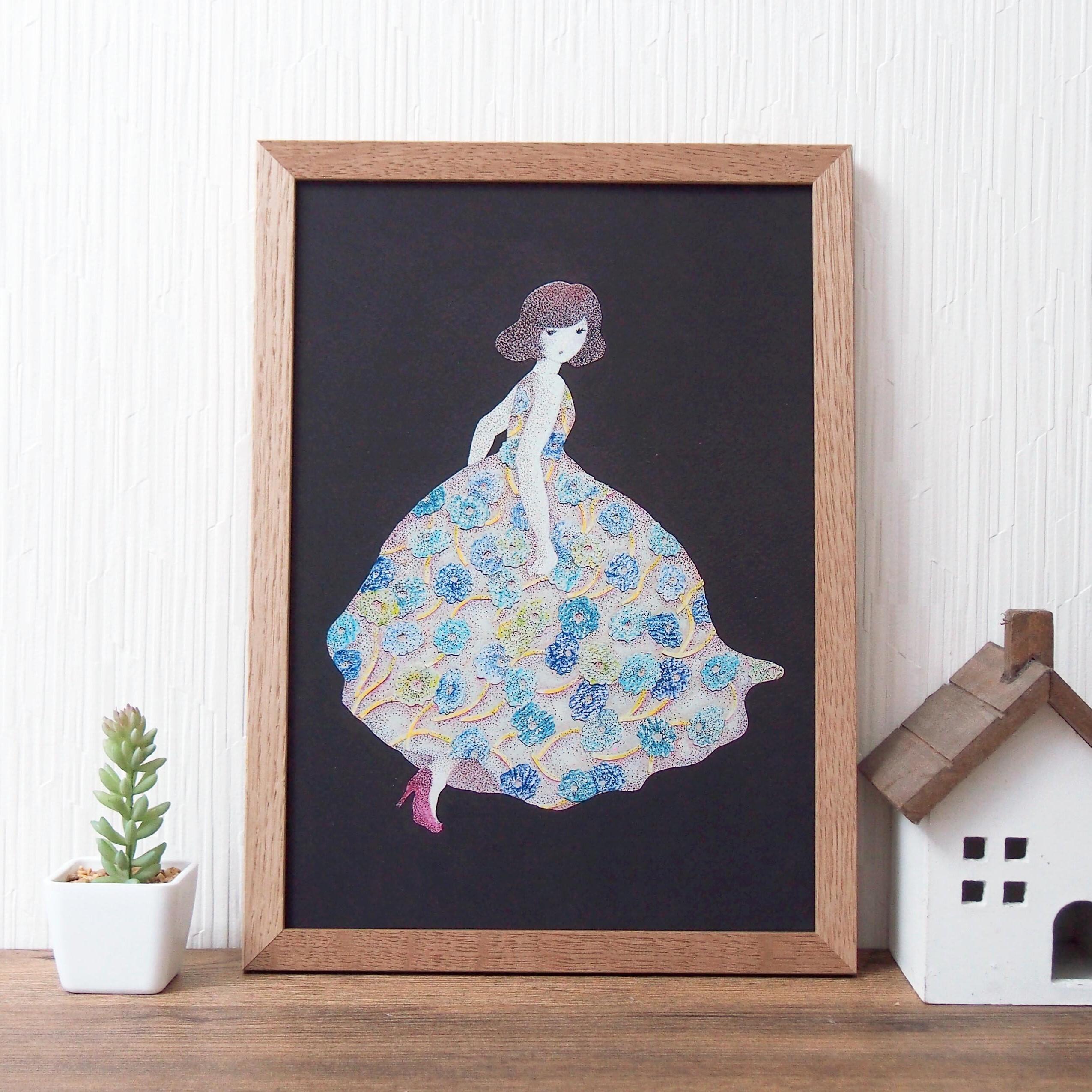 ポスター *花のドレス