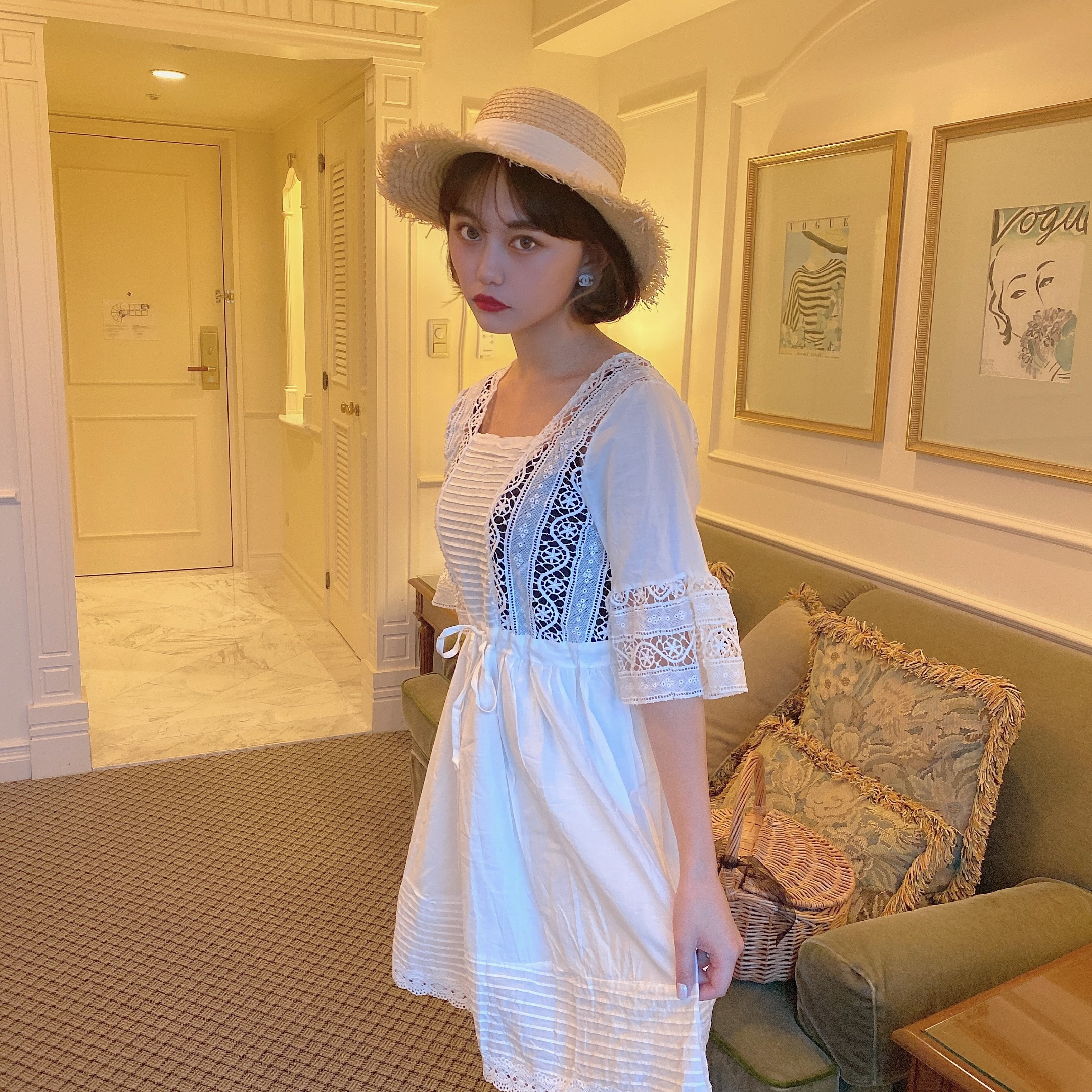 【LAST2】white girly onepiece