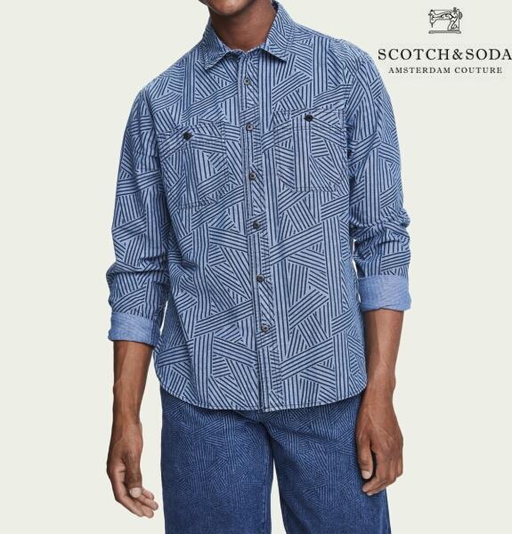 スコッチ&ソーダ SCOTCH&SODA シャツ 長袖 シャンブレーシャツ メンズ トップス 282-21415
