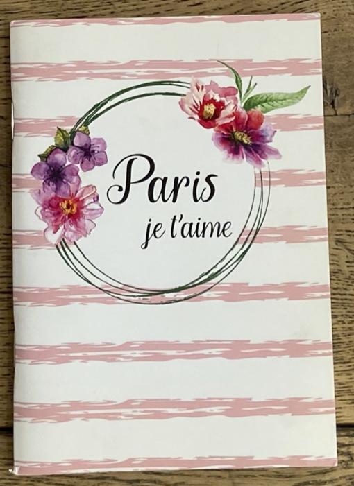 限定1点!フランス小物:ノート『PARIS JE T'AIME』