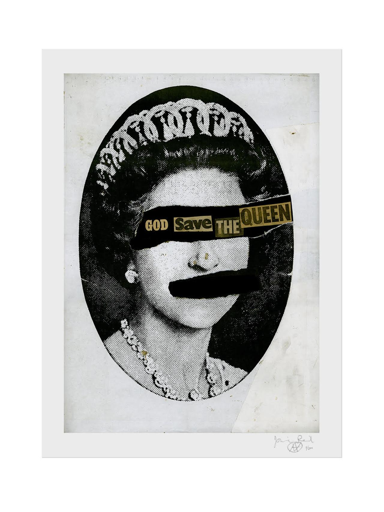 God Save The Queen Collage / Jamie Reid
